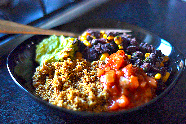 vegetarian mexican bowl