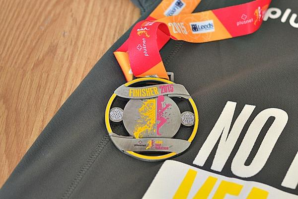 leeds half marathon medal 2015