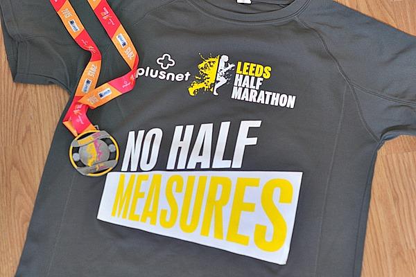 leeds half marathon tshirt 2015