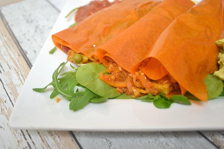 25 calorie carrot wraps