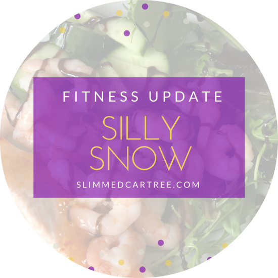Fitness update // Silly snow