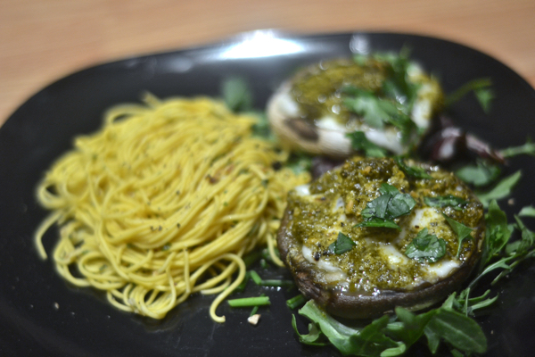 Stuffed Portobello Mushrooms with Noodles