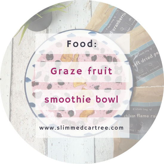 Smoothie bowl with Graze fruit