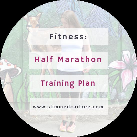 Training plan for my half marathon.