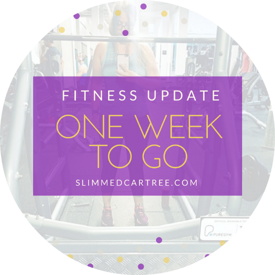 Fitness Update // 1 Week To Go