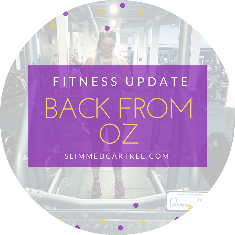 Fitness Update // Back from Australia