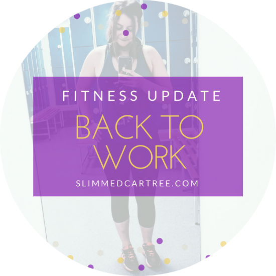 Fitness Update // Back to work