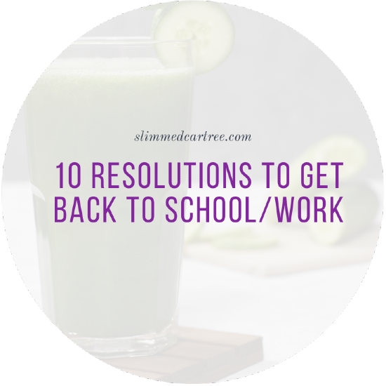 10 Resolutions To Get Back To School/Work
